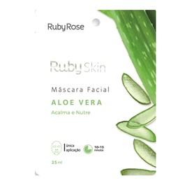 Máscara Facial de Tecido Ruby Rose Aloe Vera