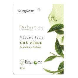 Máscara Facial de Tecido Ruby Rose Chá Verde