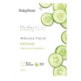 Máscara Facial de Tecido Ruby Rose Pepino