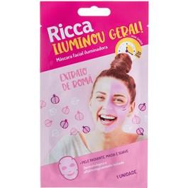 Máscara Facial Iluminadora Ricca  1 unidade Extrato de Romã