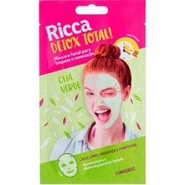 Máscara Facial Ricca 1 unidade Chá Verde