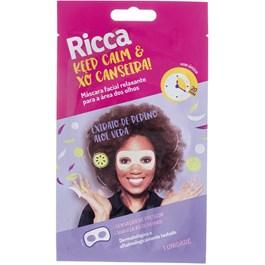 Máscara Facial Ricca 1 unidade Extrato de Pepino e Aloe Vera