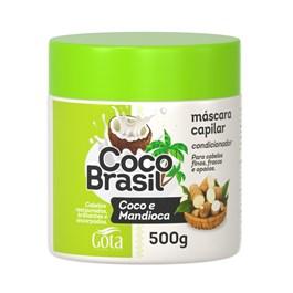 Máscara Gota Dourada Coco Brasil 500 gr Coco e Mandioca