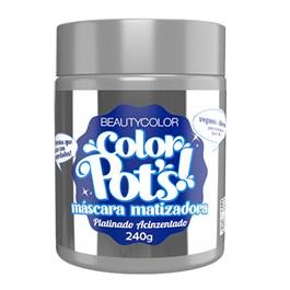 Máscara Matizadora Beauty Color 240 gr Color Pots Platinado Acinzentado