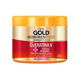 Máscara Niely Gold Concentrada 430 gr Queratina Reparação
