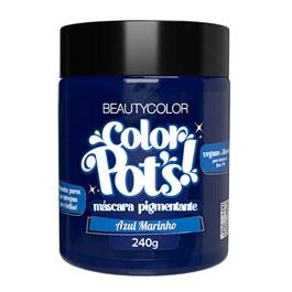 Máscara Pigmentante Beauty Color 240 gr Color Pots Azul Marinho