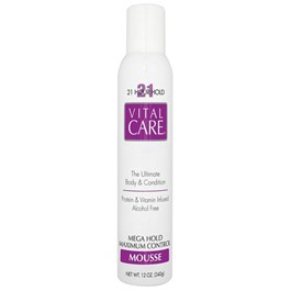 Mousse Vital Care 350 gr Mega Hold Maximum Control 21 Horas