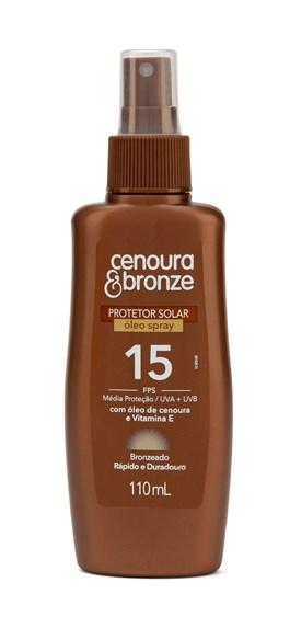 Oléo Bronzeador Cenoura & Bronze FPS 15 110 ml Spray