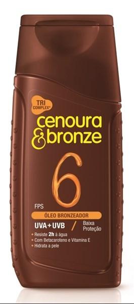 Óleo Bronzeador Cenoura e Bronze FPS 6 110 ml