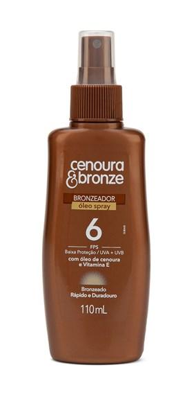 Oléo Bronzeador Cenoura & Bronze FPS 6 110 ml Spray