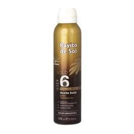Óleo Bronzeador Spray Rayito de Sol 170 ml FPS 6 Gold