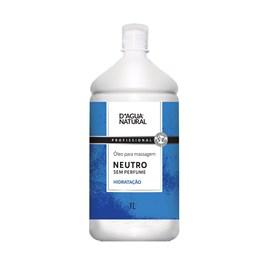 Óleo para Massagem D'Agua Natural Neutro 1 Litro Sem Perfume