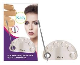Placa para Maquiagem Katy Inox Meia Lua
