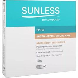Pó Compacto Sunless Médio Fps 50 10g