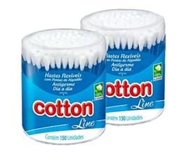 Pote Hastes Flexiveis Cotton Line Dia a Dia 150 Unidades Antigerme