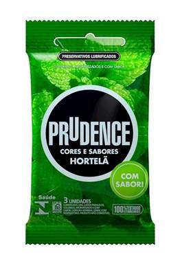 Preservativo Prudence Cores e Sabores Hortelã 3 unidades