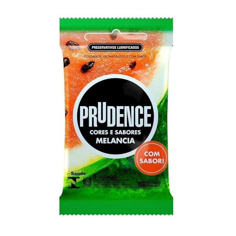Preservativo Prudence Cores e Sabores Melancia 3 unidades