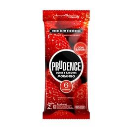 Preservativo Prudence Cores e Sabores Morango 6 unidades