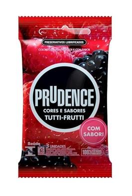 Preservativo Prudence Cores e Sabores Tutti Frutti 3 unidades