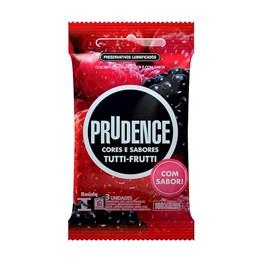 Preservativo Prudence Cores e Sabores Tutti-Frutti 3 unidades