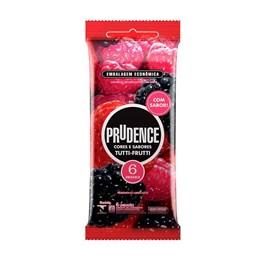 Preservativo Prudence Cores e Sabores Tutti Frutti 6 unidades