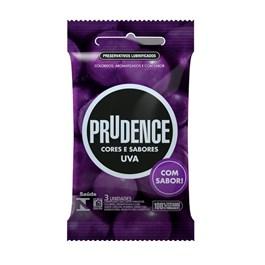 Preservativo Prudence Cores e Sabores Uva 3 unidades