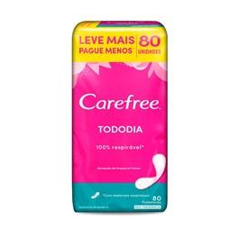 Protetor Diário Carefree Todo Dia Sem Perfume 80 Unidades