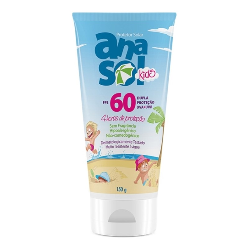 Protetor Solar Anasol FPS 60 150 gr Kids