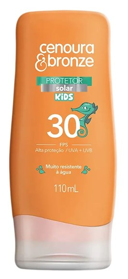 Protetor Solar Cenoura & Bronze FPS 30 110 ml Kids