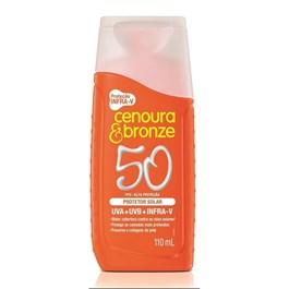 Protetor Solar Cenoura e Bronze FPS 50 110 ml