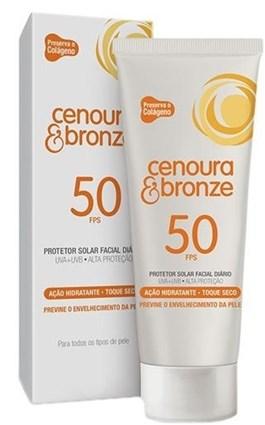 Protetor Solar Cenoura e Bronze FPS 50 50 gr Facial