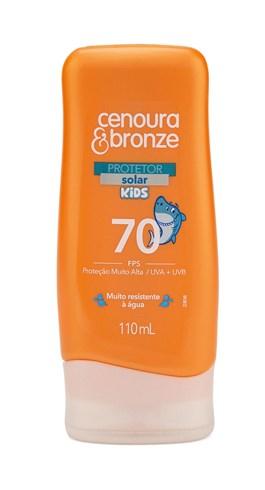 Protetor Solar Cenoura & Bronze FPS 70 110 ml Kids