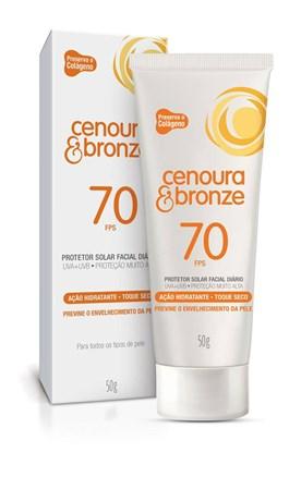 Protetor Solar Cenoura e Bronze FPS 70 50 gr Facial