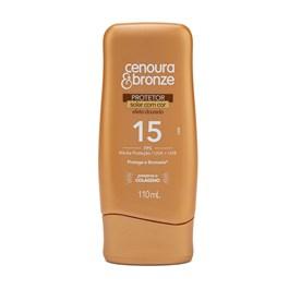 Protetor Solar com Cor Cenoura & Bronze FPS 15 110 ml Efeito Dourado