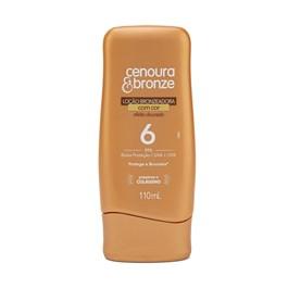 Protetor Solar com Cor Cenoura & Bronze FPS 6 110 ml Efeito Dourado
