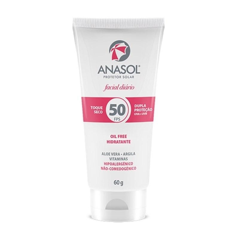 Protetor Solar Facial Anasol FPS 50 60 gr