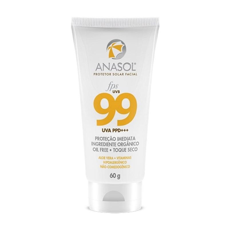 Protetor Solar Facial Anasol FPS 99 60 gr