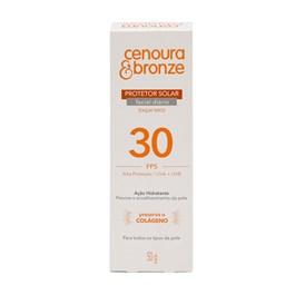 Protetor Solar Facial Cenoura & Bronze FPS 30 50 gr Toque Seco