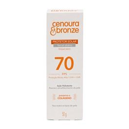 Protetor Solar Facial Cenoura & Bronze FPS 70 50 gr Toque Seco