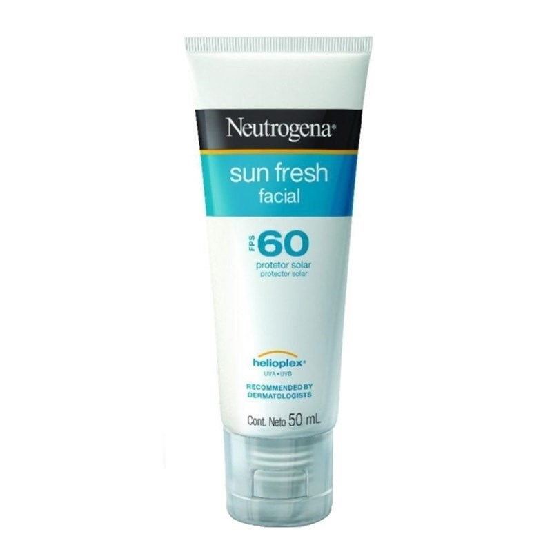 Protetor Solar Neutrogena Sun Fresh Facial FPS 60 50 ml