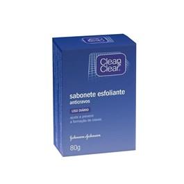 Sabonete Barra Esfoliante Anticravos Clean & Clear 80 gr