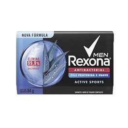 Sabonete Barra Rexona Men Antibacterial 84 gr Active