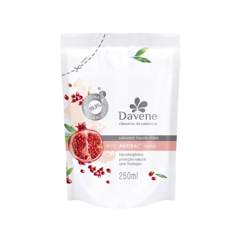 Sabonete Líquido Davene Refil 250 ml Romã