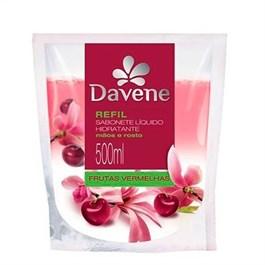 Sabonete Liquido Davene Refil 500 ml Frutas Vermelhas