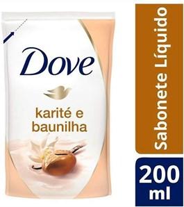 Sabonete Líquido Dove Refil 200 ml Karité e Baunilha