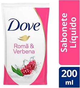 Sabonete Líquido Dove Refil 200 ml Romã e Verbena