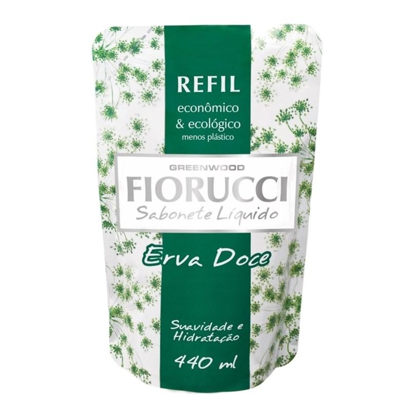 Sabonete Líquido Fiorucci Refil 440 ml Erva Doce