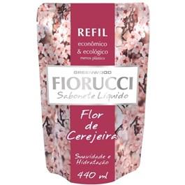 Sabonete Líquido Fiorucci Refil 440 ml Flor de Cerejeira