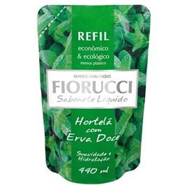 Sabonete Liquido Fiorucci Refil 440 ml Hortelã com Erva Doce