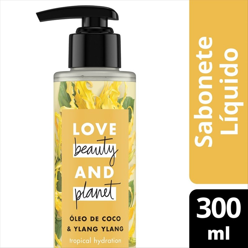 Sabonete Líquido Love Beauty And Planet 300 ml Oleo de Coco e Ylang Ylang